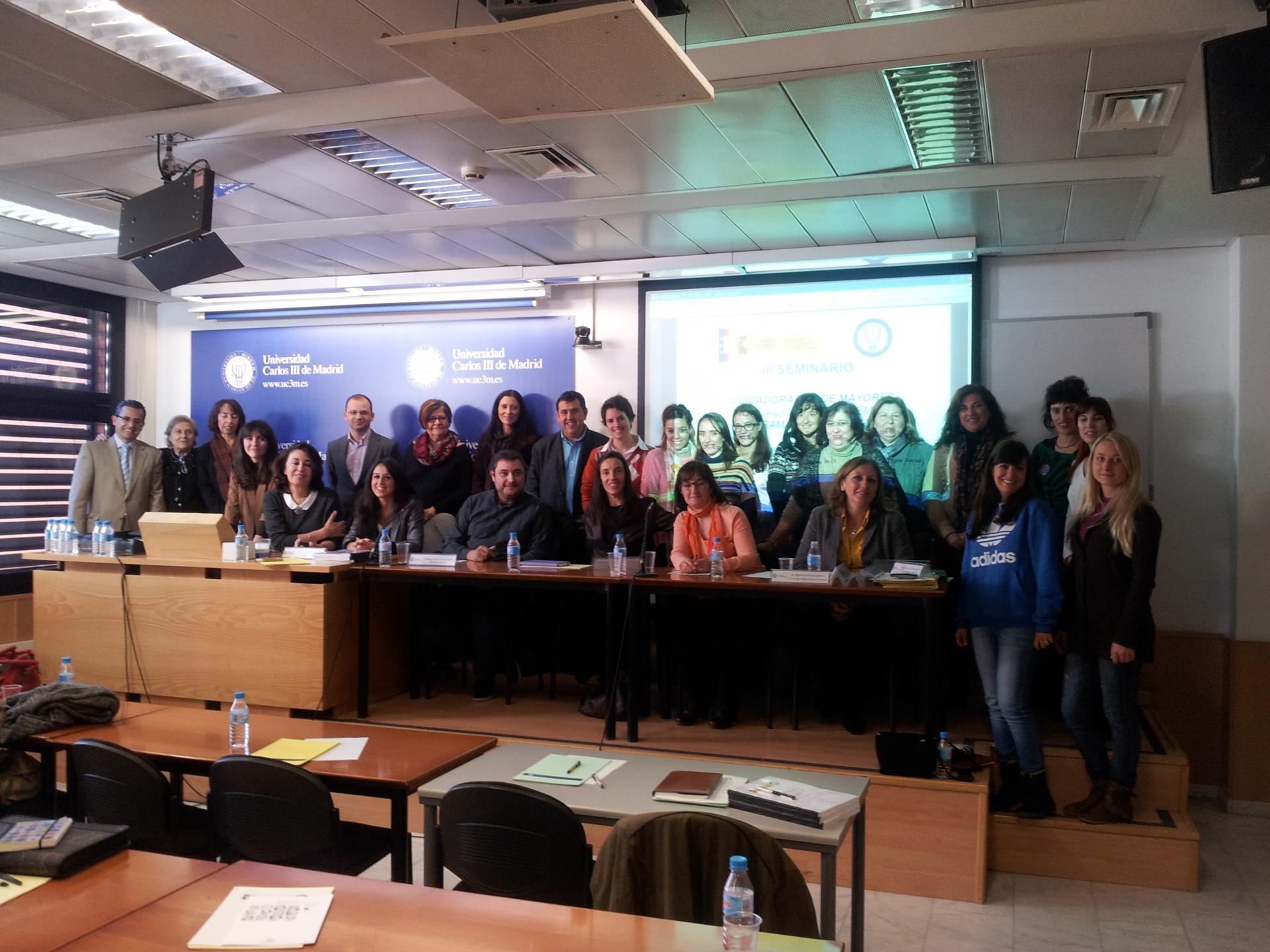 Cierre Jornadas Cuidadores de Dependedientes-Universidad Carlos III-Madrid